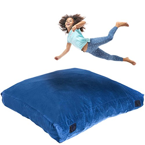 Milliard Crash Pad, Sensory Pad with Foam Blocks for Kids and Adults with Washable Cover (5 feet x 5 feet)