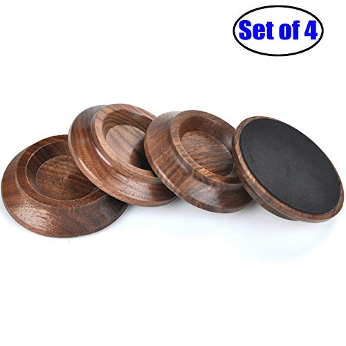 Upright Piano Caster Cups,Solid Wood Furniture,Piano Caster Cups - Non-Slip & Anti-Noise Foam (black walnut)