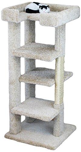 New Cat Condos 120008-Beige 4 Level Large Cat Tree