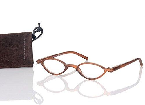 Look and see Designer leesbril +2,5 diop. bruin voor hem en haar flexibele beugel leeshulp