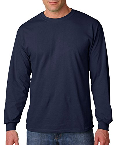 Gildan G5400 100% Cotton L-Sleeve Tee - Navy - XL