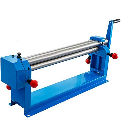 Mophorn 24 in. Slip Roll Roller Metal Plate Bending Round Machine,Slip Roll Machine Up to 16 Gauge Steel,Sheet Metal Roller,Slip Rolling Bending Machine with Two Removable Rollers