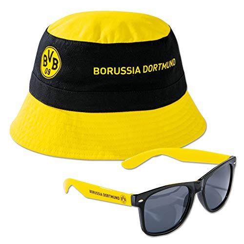 Borussia Dortmund BVB-Set Fischerhut und Sonnenbrille one Size