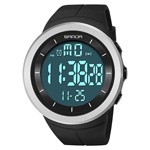 JIAJBG Deporte Digital Militares Reloj de Los Hombres Relojes de Ejecución de Mujeres Natación Cronómetro Ladies Impermeable Al Aire Libre Del Reloj de Alarma Reloj de Pulsera equip