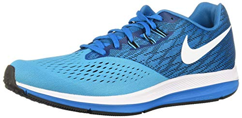 Nike Air Zoom Winflo 4, Zapatillas de Running Hombre, Azul Blue Orbit White Black Blue Fury, 41 EU