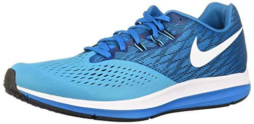 Nike Air Zoom Winflo 4, Zapatillas de Running Hombre, Azul Blue Orbit White Black Blue Fury, 41 EU