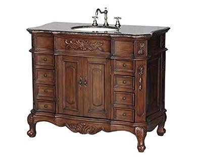 42-Inch Antique Style Single Sink Bathroom Vanity Model 2815-42 BN