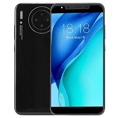 Unlocked Smartphones 3G, International Android Unlocked Cell Phones, 5.72in HD Screen, 512MB +4G, 2MP + 2MP Quad Camera, Dual Card Dual Standby, Face ID&Fingerprint Unlock(Black)