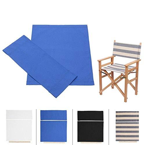 N/A Directores Ocasionales Silla Cubierta Patio Acampar Pesado Protector Casual Reemplazo Lona Exterior Hogar Paño Shell Taburete Protector, Azul