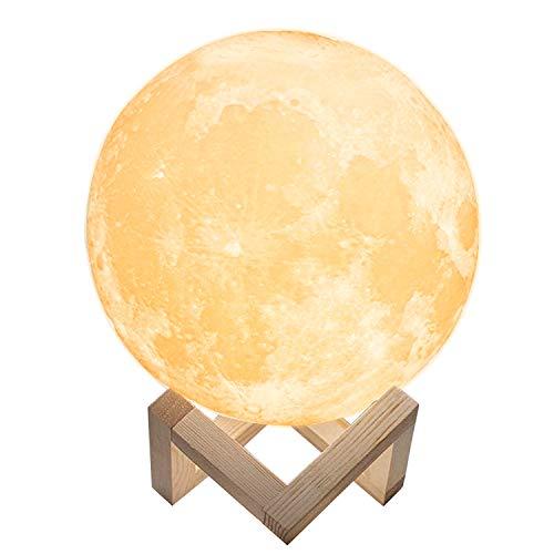 Mondlampe Mondlicht Mond Lampe LED 16 Farben Touch Control/Dimmbare/USB Wiederaufladbar RGB Nachtlampe Kinder Geschenke