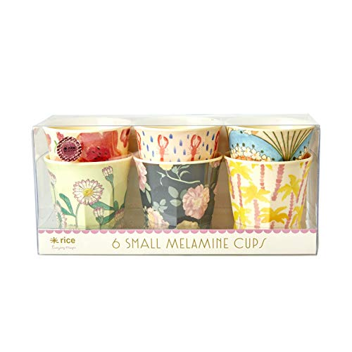 Rice Melamin Becher klein Happy Prints 150ml - 6er Set