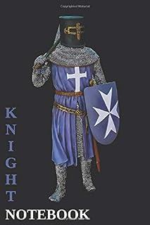 Knight Notebook  - Cross - Dark Blue - College Ruled