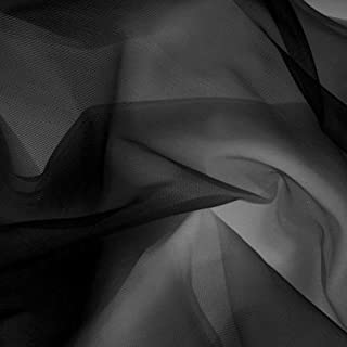 Somerset Industries, 108'' Nylon Chiffon Tricot Fabric, Black, Fabric by the yard