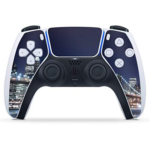 DeinDesign Skin kompatibel mit Sony Playstation 5 PS5 Controller Folie Sticker USA New York Brooklyn Bridge