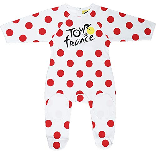 Tour de France - Tutina per neonato con tiragraffi da ciclismo, collezione ufficiale, 18 mesi