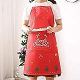 Delantal de cocina de Navidad Barbacoa babero delantal para las mujeres cocinar hornear restaurante...