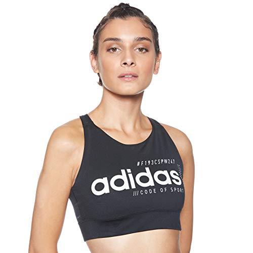 adidas Damen Brilliant Basic Sport-BH, Black/White, XS