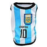 (ワボーズ)Waboats ペット用品 ペット服 ワールドカップ 犬用サッカー運動シャツ 犬の服 8チーム11サイズ選べる アルゼンチン L