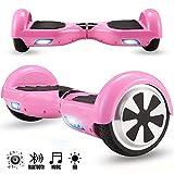 Magic Vida Skateboard Électrique Bluetooth 6.5 Pouces Dollar avec LED Gyropode Smart Scooter Multicolor Auto-Équilibrage pour...