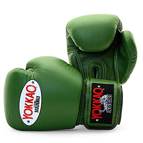 Yokkao Boxing Guante de Boxeo de Muay Thai Transpirable Yokkao Matrix - Negro, Rojo, Azul, Blanco, Amarillo, Gris - 2018 (14 onzas - Verde)