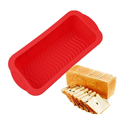 Albeey Silikon-Kastenform Brotform Kuchen Brotbackform (rot)