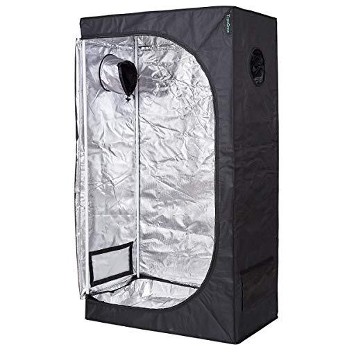TopoGrow D-Door 48'x24'x72' Indoor Grow Tent Room 600D Mylar High Reflective Non Toxic Hut, 4'X2'