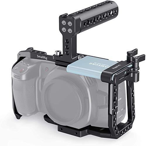 SMALLRIG Cage Kit für Blackmagic Design BMPCC 4K & 6K Kamera, BMPCC 4K & 6K Cage Kit mit Cage Top Handle und SSD-Halter - KCVB2748