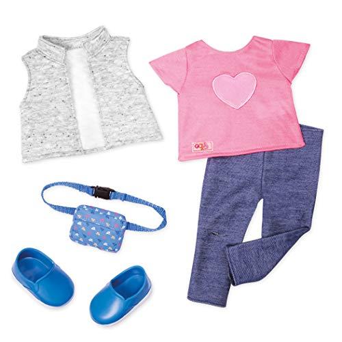 Our Generation Battat BD30394Z klassieke kleding, leggings en T-shirt, roze