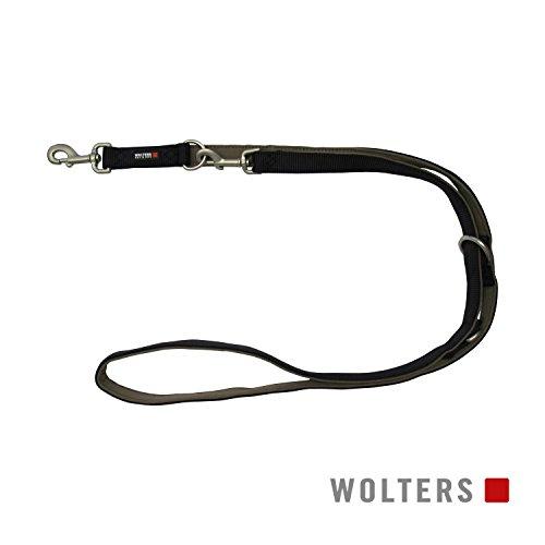 Wolters | Führleine Professional Comfort schwarz/braun | L 200 x B 1 cm