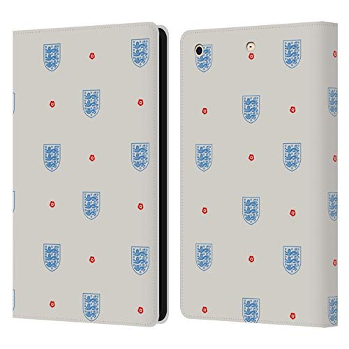 Official England National Football Team Logo Pattern Heritage Leather Book Wallet Case Cover Compatible For Apple iPad mini 1 / mini 2 / mini 3