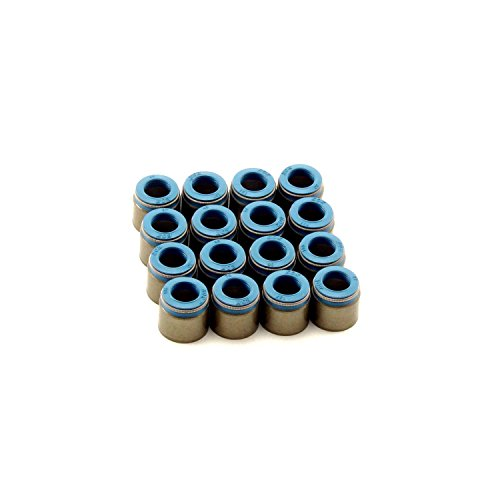 "Comp Cams 517-16 Set of 16 Metal Body Viton Valve Seals for .500"""" Guide Size, 11/32"""" Valve Stem"""