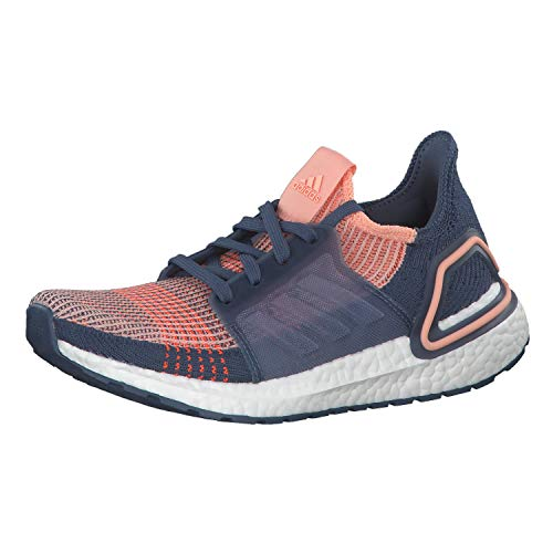 adidas Women's Ultraboost 19 W Running Shoes, White (FTWR White/FTWR White/Real Blue FTWR White/FTWR White/Real Blue), 8.5 UK