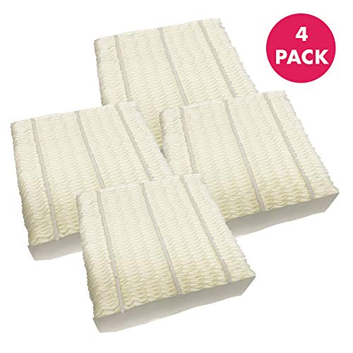 Think Crucial Replacement Humidifier Paper Wick Filters Compatible with Aircare Part # 1043 & Models EP9500,EP9700,EP9800,EP9R500,EP9R700,EP9R800 - Essick: 821000,826000,831000,SS390DWHT (4 Pack)