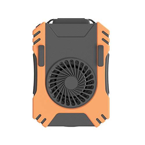 QNMM Mini Ventilador con Clip Cintura, Ventilador de Collar con Pilas de 5000 Mah, Tiro Largo de Concentración LED de 3 W para Acampar, Pescar, Andar En Bicicleta, Viajar Y Al Aire Libre