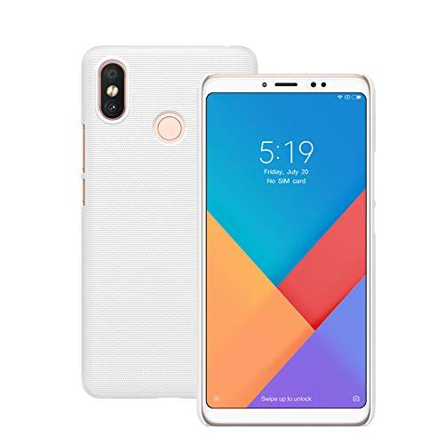 XunEda Funda Xiaomi Mi MAX 3 6.9 Funda Antideslizante Ultrafino Mate para PC Funda Protectora Dura con Protector de Pantalla para Xiaomi Mi MAX 3 Smartphone(Blanca)