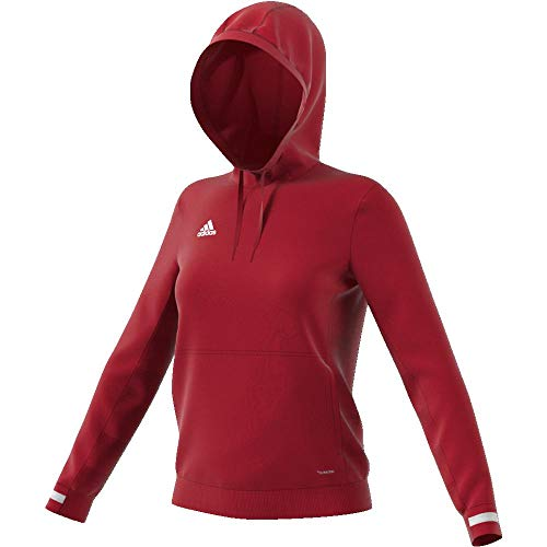 adidas Damen T19 Hoody W Sweatshirt, Power red/White, XL