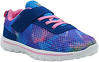 KazarMax Kid's Blue-Pink Sports Shoes for Girls (Made in India) 2.5 Years To 9 Years