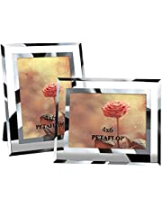 PETAFLOP 6 x 4 fotoramar glas perfekt för bröllopskontor restauranger affärer 2-pack