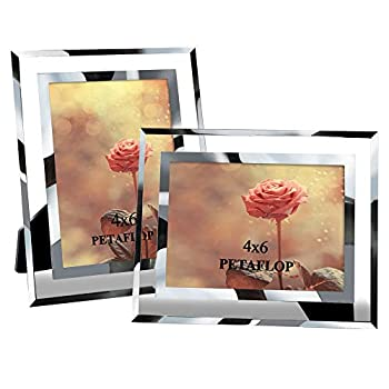 PETAFLOP 4x6 Picture Frame Perfect for Wedding Offices Restaurants Business 2 Pack