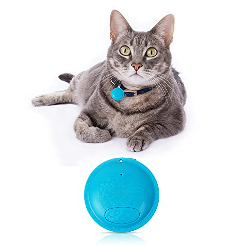 Pet GPS Tracker, Dog and Cat GPS Tracker y Pet Finder GPS, Sistema de Cerca de Perros inalámbricos, Impermeable con el Seguimiento de Aplicaciones, Necesidad de Tarjeta SIM,Azul