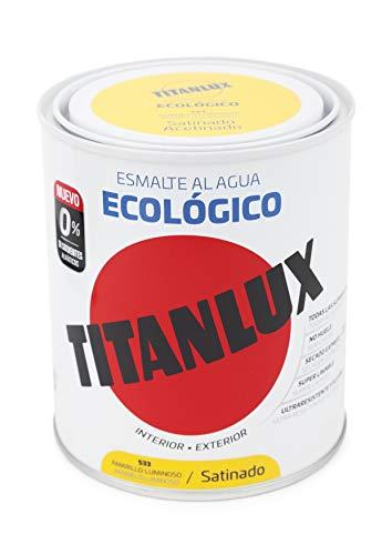 Ökologisches Wasser Titanlux Emaille Satinado - 750 ml, 533 Bright Yellow