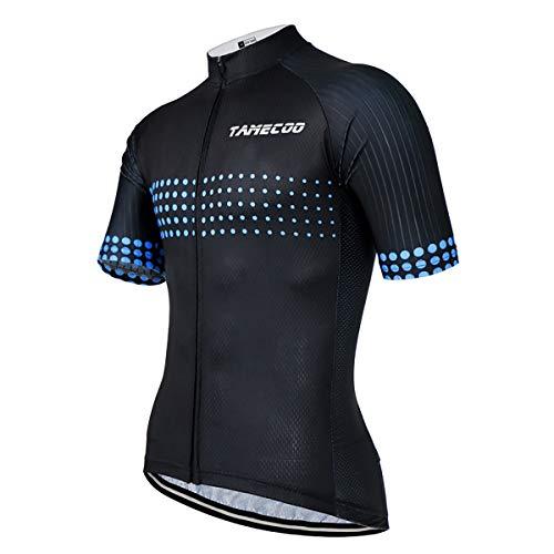 SUUKAA Maillot de Ciclismo para Hombre Camiseta Ropa Paseo Manga Corta,Top Ciclismo Bicicleta Maillots,Transpirable y Que Absorbe El Sudor,Secado Rápido,Mountain Bike/MTB Maillots