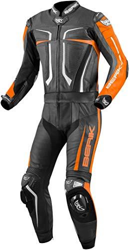 Berik Flumatic Evo 2-Teiler Motorrad Lederkombi Schwarz/Weiß/Orange 54
