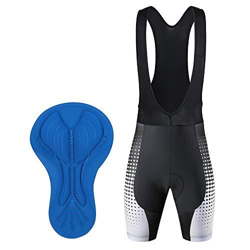 Culotte Ciclismo Tirantes Hombre Verano Pantalon Cortos MTB con Badana Gel Culote...