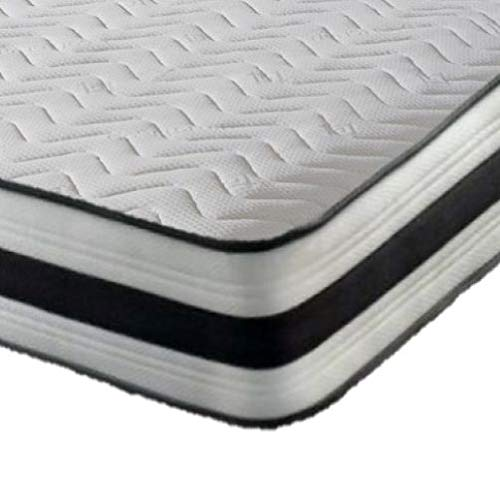 MR SLEEPS BEDS Memory Foam Mattress Quilted Luxury with Springs Single 3ft (90cm) width 6FT3 (190CM)