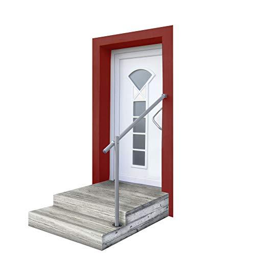 Eingangs-Geländer-Set in Aluminium GA1 - formschön- langlebig zur Bodenmontage, L=1150mm