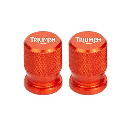 2 Piezas Tapas Válvulas para Neumáticos Motocicleta para Triumph Daytona 675 Street Triple/R Tiger Explorer 1200 800 XC, Aluminio Prueba de Polvo Cubierta con Anillo de Sellado