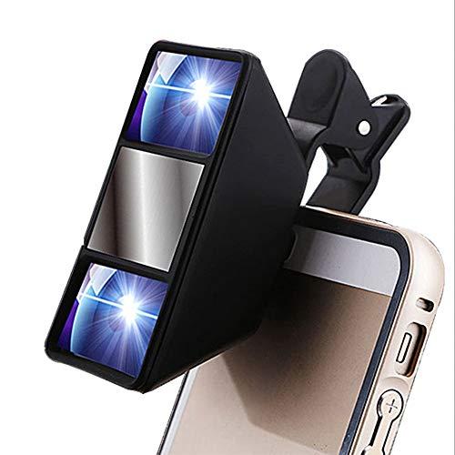 ZOPQOI Lente de la cámara de la visión de la visión de la visión de la Mini fotografía 3D de la Mini fotografía Universal para Samsung para HTC para la Lente de Huawei Smartphone