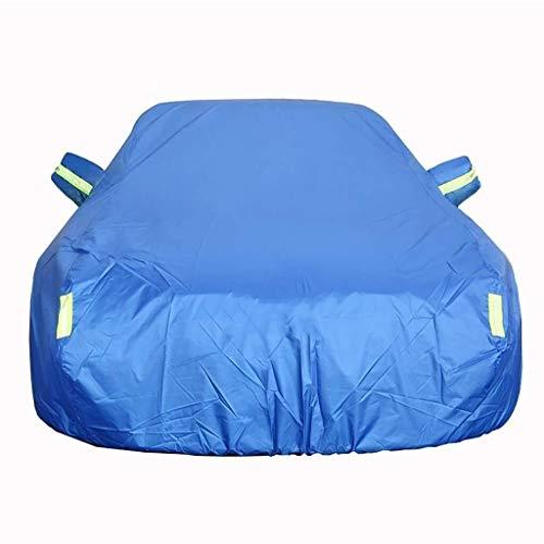 THMSS Autoabdeckung für Autos, atmungsaktiv, außen, wasserdicht, winddicht, staubdicht, UV-Schutz, volle Abdeckung, kompatibel mit Abdeckungen von Changan EADO Plus cotton blue