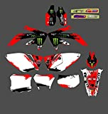 Fyjhunann PJDST-11 Customized 3M Motorcycle Decals Stickers Graphics Graphic Decal Kit Compatible with Honda CRF450X 2005 2006 2007 2008 2009 2010 2011 2012 2013 2014 2015 2016 hnfyj